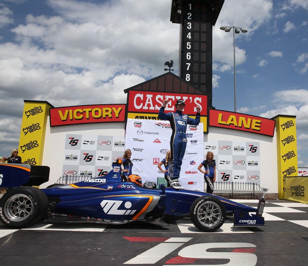 Photo of Mais uma vitória de Matheus Leist na Indy Lights: desta vez em Iowa, saindo de décimo para primeiro