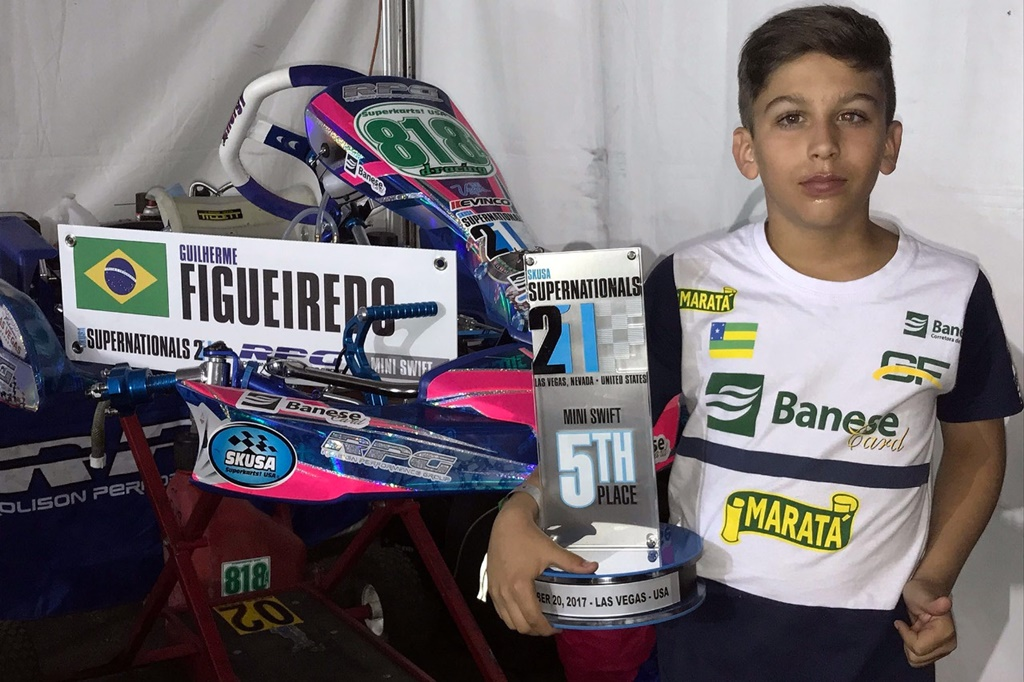 Photo of Kart – Guilherme Figueiredo brilhou nos Estados Unidos e foi ao pódio do SKUSA