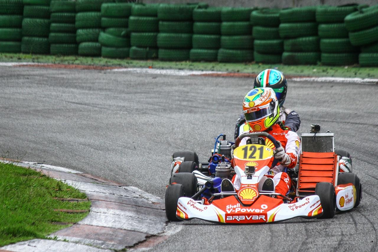 Photo of Kart – Agora na Copa SP Granja Viana, Felipe Baptista repete estreia com pole e vitória para a Academia Shell Racing