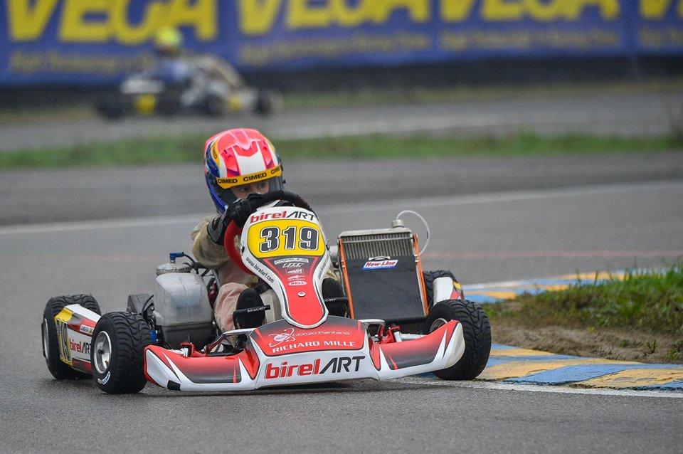 Photo of Kart – Rafael Câmara lidera treino na chuva em Castelletto na sua estreia pela Birel Art no WSK