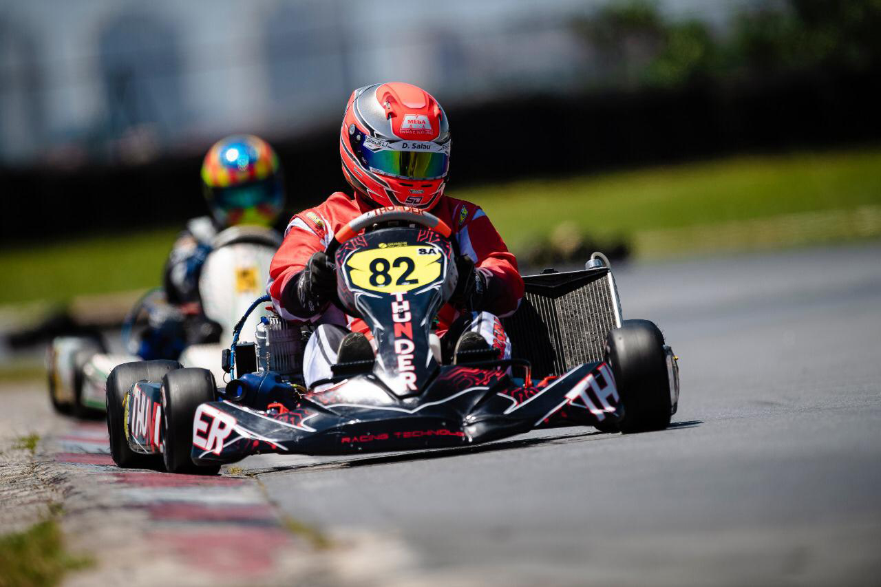 """Photo of Kart – De """"casa"""" nova, Luiz Eduardo Salau teve estreia positiva e promissora com os chassis Thunder"""