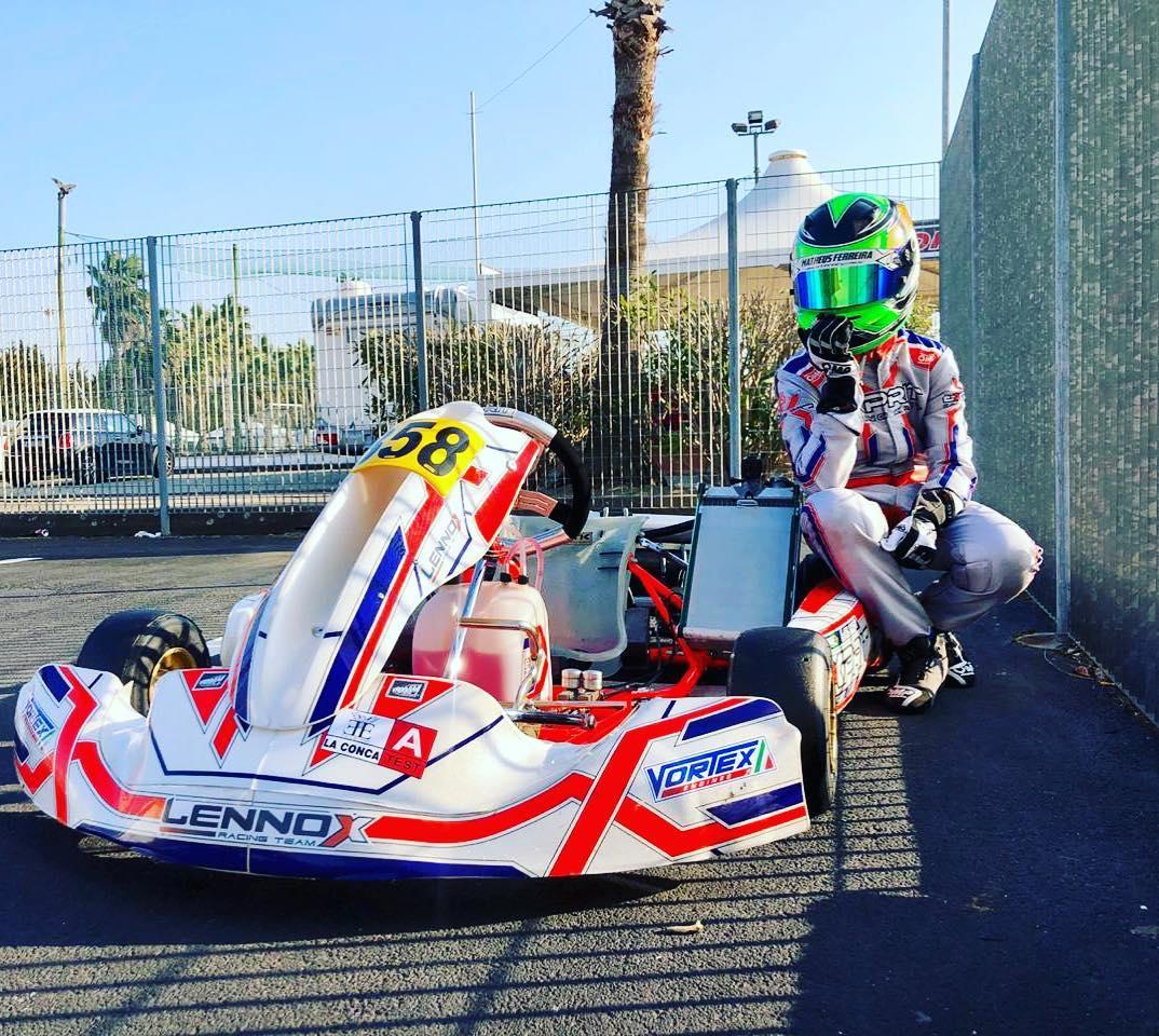 Photo of Kart – Motivado por show de ultrapassagens em Lonato, Matheus Ferreira encara etapa de La Conca no WSK