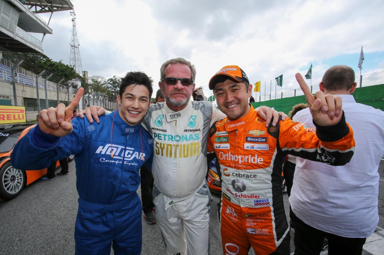 Photo of GP do Bem – Antes da Corrida do Milhão, Rafael Suzuki recebe ginasta Arthur Nory no GP do Bem
