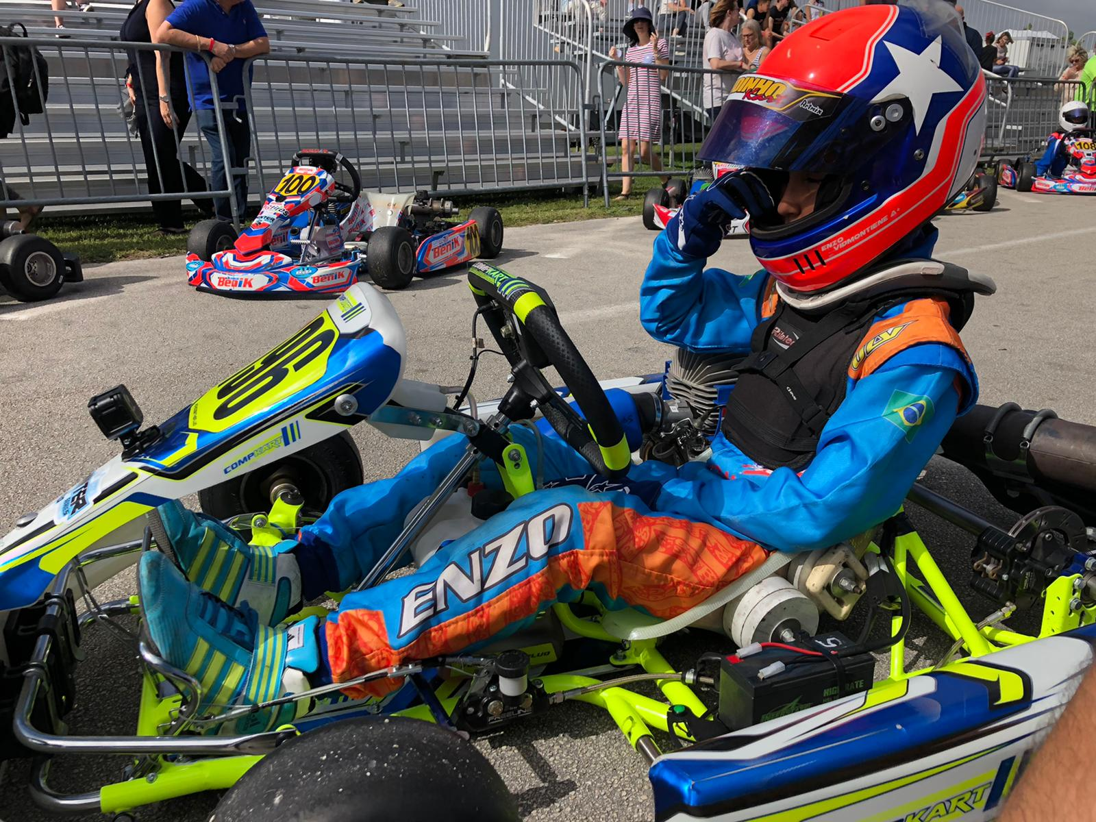 Photo of Kart – Enzo Vidmontiene mostra evolução no SKUSA e mira bons resultados no Florida Winter Tour