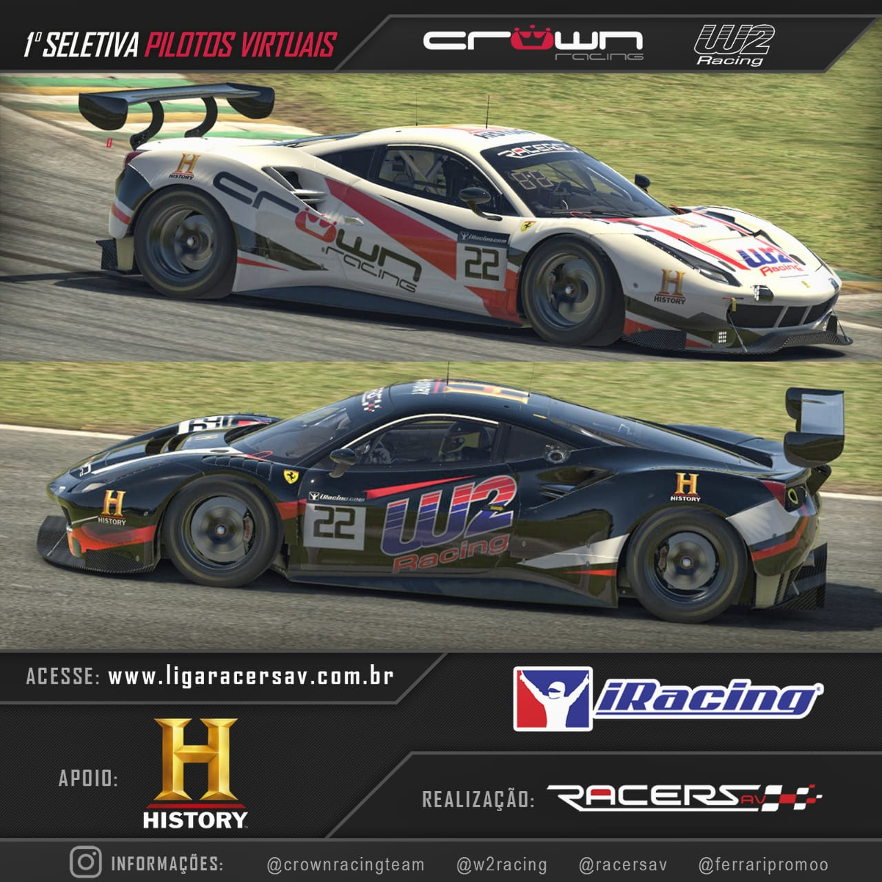 Photo of Stock Car – Com 330 inscritos, seletiva do piloto oficial da Crown Racing em automobilismo virtual tem seus 40 finalistas na plataforma iRacing